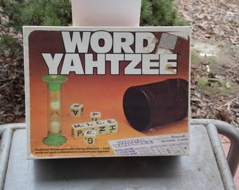 Word Yahtzee 1978 Milton Bradley Traditional Yahtzee game with a daring difference build words and word combos to outscore your opponent