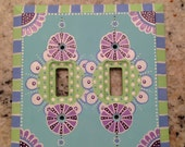 Custom hand painted switch plates for Kathy