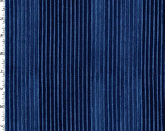 Sale- Michael Miller Laura Gunn Edges in Indigo Fabric 100% cotton fabric