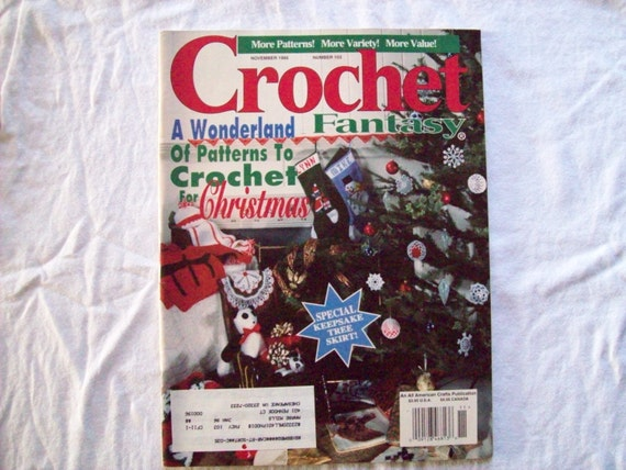 Crochet Fantasy Magazine : Christmas Crochet Fantasy Pattern Magazine, 103, November 1995, book ...