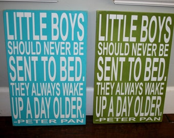 Little Boys Should Never Be Sent To Bed Customizable Sign Baby Gift Nursery Decor Boys Bedroom Decor Baby Sign Nursery Sign