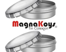 MagnaKoys® Empty Round Pop Top Style Metal Tin - 1 oz Containers for Crafts