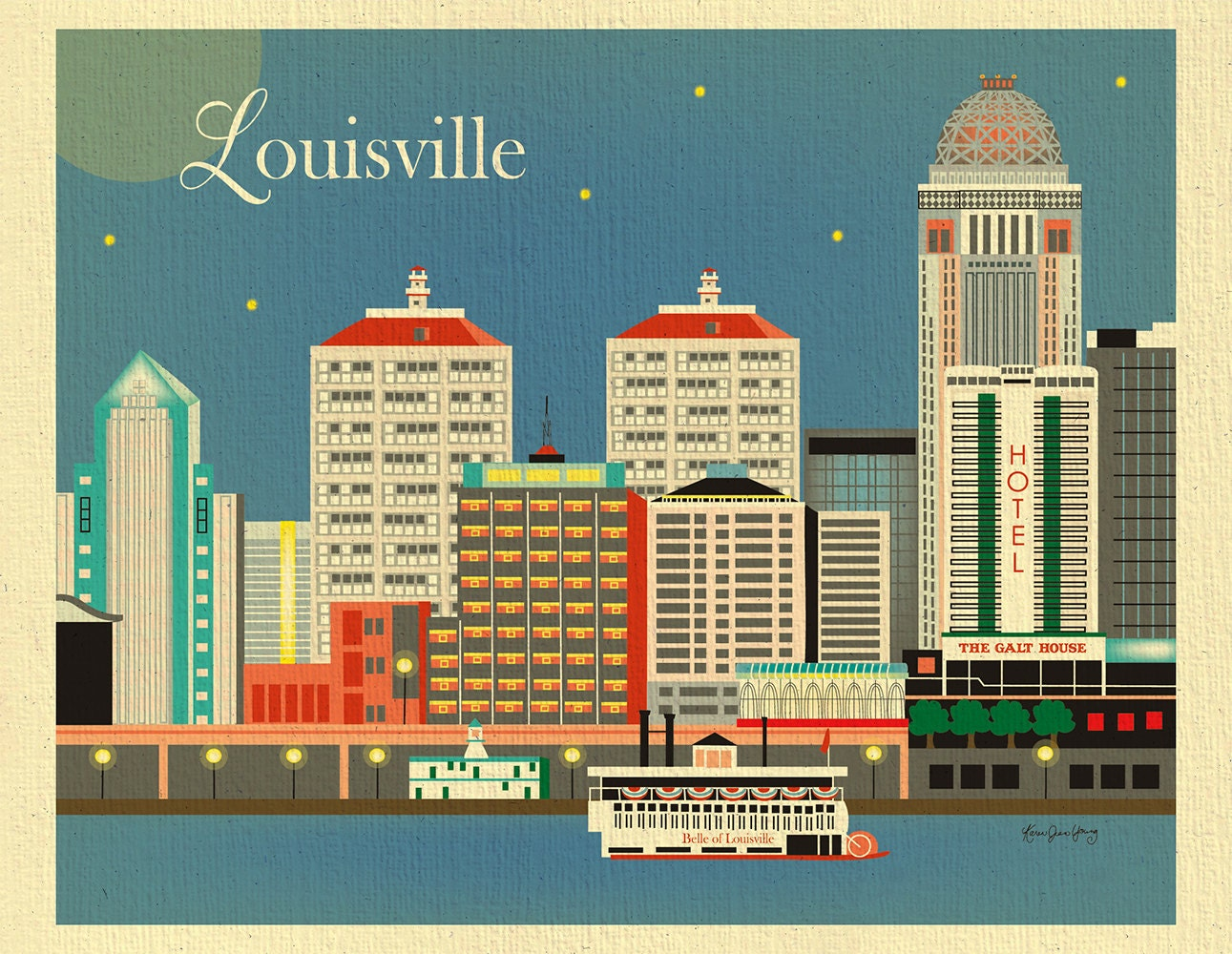 Crib for sale louisville ky - Louisville Art Louisville Skyline Kentucky Art Print Louisville Wall Art Louisville Wedding