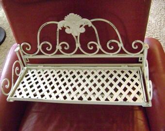 Vintage shabby metal shelf