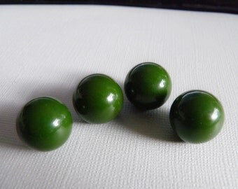 Large Bakelite Ball Buttons Lime Green