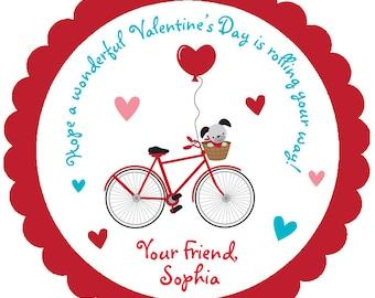 Valentine stickers Valentines stickers Valentine's Day Sticker  bicycle valentine