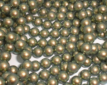 6mm Round Swarovski Crystal Iridescent Green Pearls (5810) Package of 50