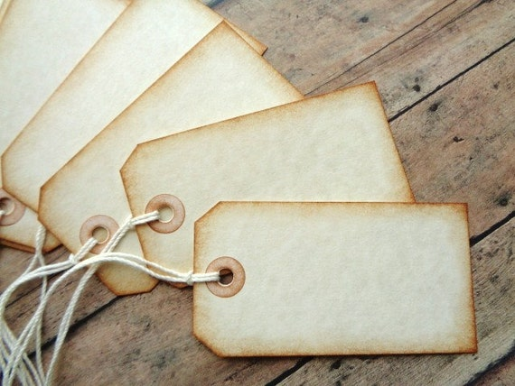 Wedding Gift Name Tags : Gift Tags Vintage Wedding Blank Seating Name Cards Rustic Favor Tag ...