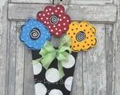Whimsical Flower pot door hanger