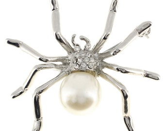 White Pearl Spider Pin 1001821