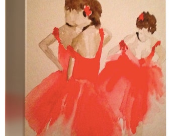 Anticipation - watercolor print and wrapped canvas - three sizes
