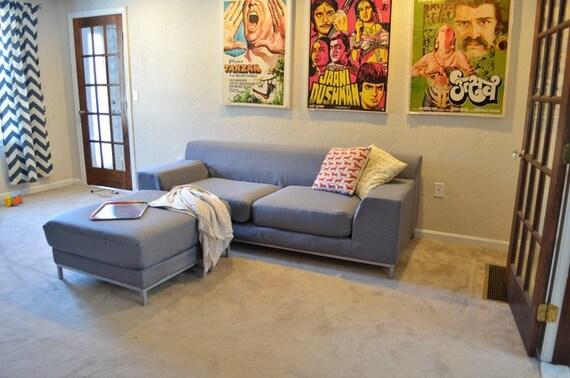 Custom IKEA Kramfors Sofa Cover (3 Seater) in Kino Charcoal fabric