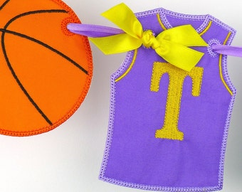 Basketball Banner ITH Project Applique Machine Embroidery Design Patterns all done in the hoop 3 variations