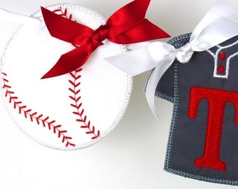 "Baseball Banner In the hoop project Machine Embroidery Applique Design Pattern in 3 sizes 4"", 5"" and 6"""