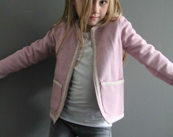 Sample SALE Coco coat 5/6 pink ready to ship coat jacket wool classic style blazer