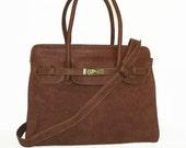 Color Block Genuine Leather Bag Cross-body Purse Ilita