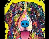 Unisex Blacklight T Shirt New Bernese Mountain Dog T Shirt Neon Florescent Dog Print  Free Shipping to USA 19034NBTA4