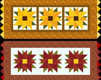 Bloomin' Blossoms Sunflower/Poinsettia Pattern