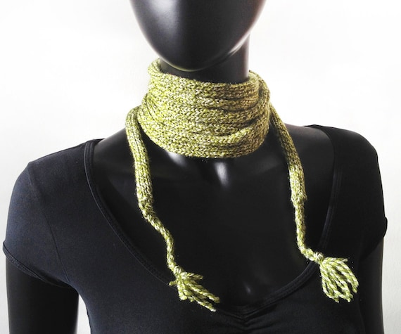 Chives Skinny Spaghetti Scarf - Skinny Scarf, fun & easy to wear!