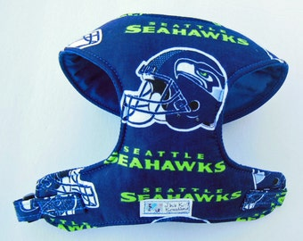 Seattle Seahawk Comfort Soft Dog Harness - Made to order -