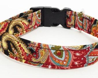 Paisley Adjustable Dog Collar - Made to Order -