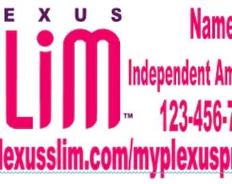 6x12 Plexus Slim Car Decal