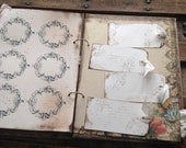 Wedding Guest Book, Burlap and Lace Guest Book Handmade Rustic Shabby  - Neutral Colors - Ready to Ship