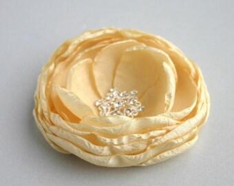 Yellow Flower Hair Clip, Flower Hair Piece, Bridal Hair Accessory, Yellow Flower Fascinator, Wedding Hair Pin, Bridesmaid Accessory