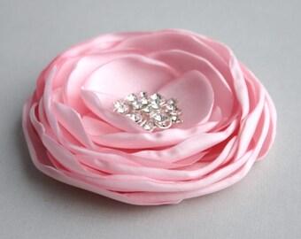 Light Pink Flower Hair Clip, Pink Hair Accessory, Bridal Hair Piece, Weddding Accessory, Light Pink Flower Hair Piece, Bridesmaid Accessory