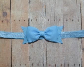 Light Blue Bow Headband. Light Blue Baby Headband. Baby Hair Accessories. Baby Girls Hair Accessories. Bow Headband. Girls Hair Accessories
