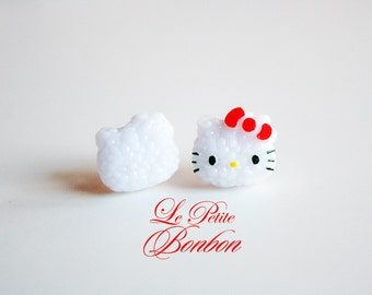 Kitty Onigiri sushi rice earrings