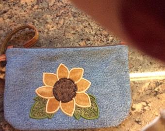 Sunflower Wristlet Bag