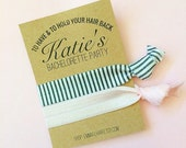 Custom Made Party Favors KIT for Birthdays Showers Girls Weekend Thank Yous Gifts Presents Ideas Bachelorette Bridal Hair Ties