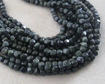 Dark Green Russian Serpentine Pebble Beads, Gemstone Beads, Serpentine Beads, Craft Supplies, Jewelry Making, Necklace Designs, Full Strand
