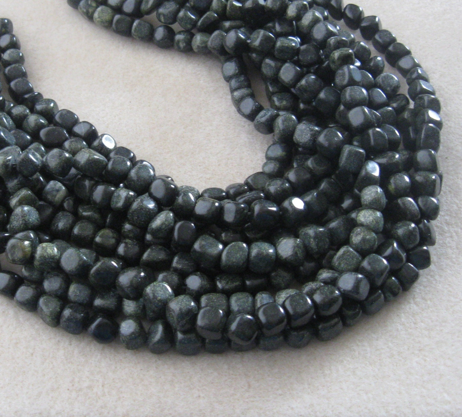 Russian Serpentine Pebble Beads, Gemstone Beads, Serpentine Beads ...