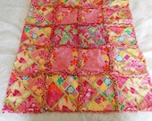 Lilly Pulitzer Rock the Hula,Lei'd back,Diamond Head Patch Rag quilt baby blanket