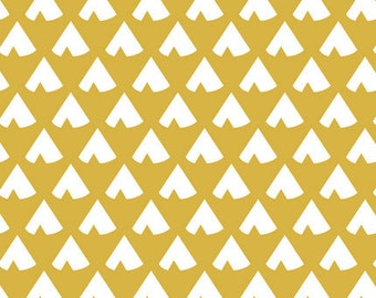Custom fitted crib sheet in Gold TeePees