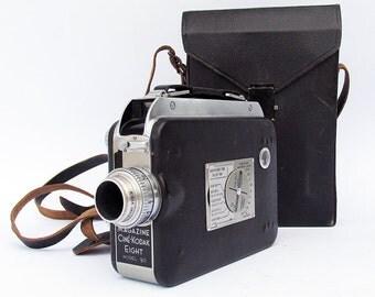 1940s Cine-Kodak Magazine Eight Model 90 8mm Movie Camera with Original Case