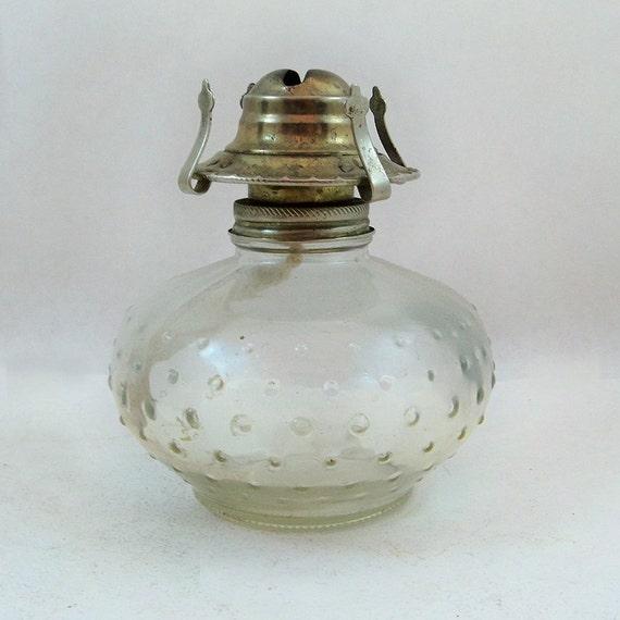 Vintage Lamplight Farms Hobnail Glass Oil Lamp Lantern