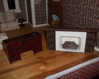 Dollhouse Fireplace and Credenza
