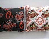 Baltimore ORIOLES Cornhole Bags MLB Corn hole Corn Toss Baggo Set of 8