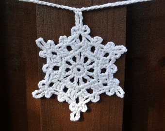 Big Snowflake Crochet Garland