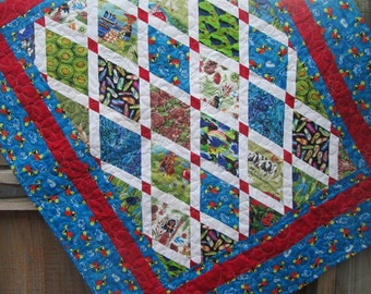 Baby Quilt Buzzy Bee Kiwiana New Zealand MADE TO ORDER