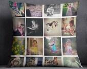 Custom Instagram, Custom Photo Collage or Custom Photo Decorative Throw Pillow Case - Personalized Christmas Gift, Home Decor