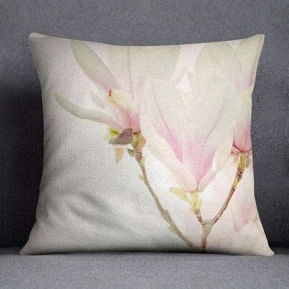 Magnolia Decorative Throw Pillow w/optional insert/ Home