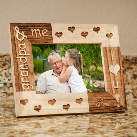 Personalized Grandpa Amp Me Picture Frame Fathers Day By