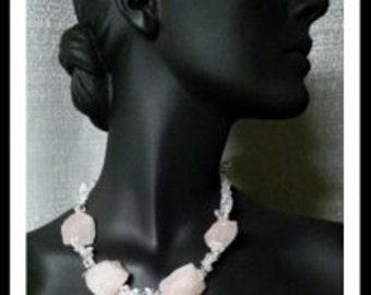 Pink quartz nugget