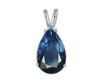 sapphire pendant sterling silver
