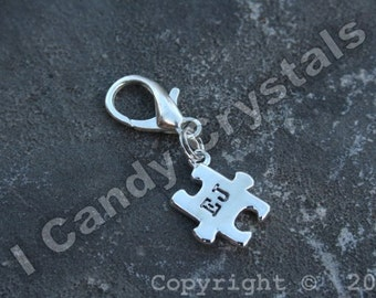 Autism Awareness Key Chain Charm Personalized