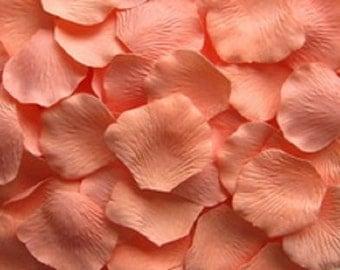 500 PEACHY Peach Silk Artificial Rose Petals Wedding Favor Decoraition Flower Girl